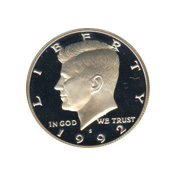 Kennedy Half Dollar 1992 S Proof Silver Golden Eagle Coins