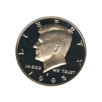 90/% Silver 1995-S Silver Proof Kennedy Half Dollar