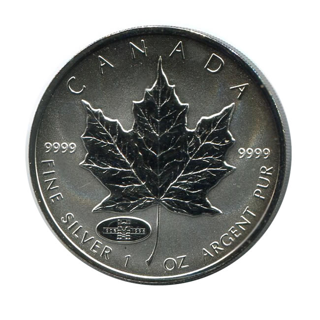 1998 Canada 1 Oz Silver Maple Leaf Reverse Proof Rcm