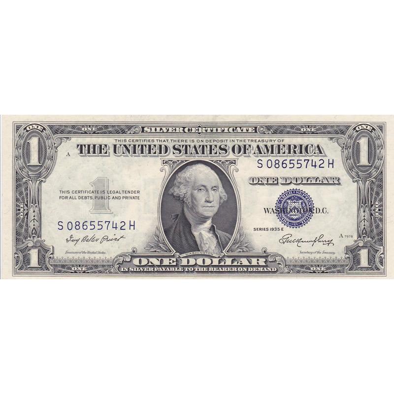 1935e 1 Silver Certificate Unc Golden Eagle Coins