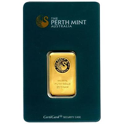 Perth Mint 20 Gram Gold Bar Golden Eagle Coins