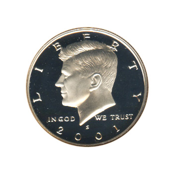 Proof 2001 Kennedy S Half Dollar