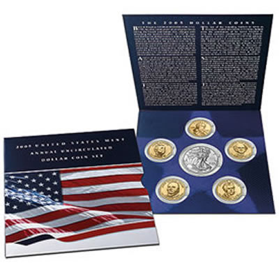 2007 U S Mint Annual Uncirculated Dollar Coin Set