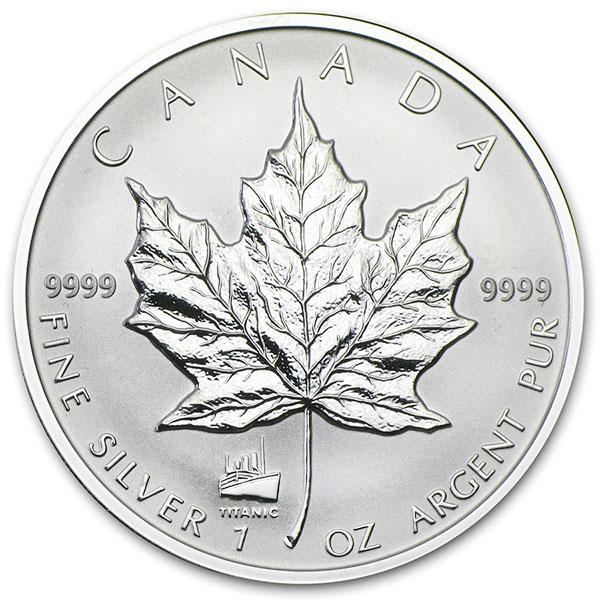 2012 Canada 1 Oz Silver Maple Leaf Reverse Proof Titanic