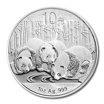 2013 Chinese Silver Panda 1 Oz Golden Eagle Coins