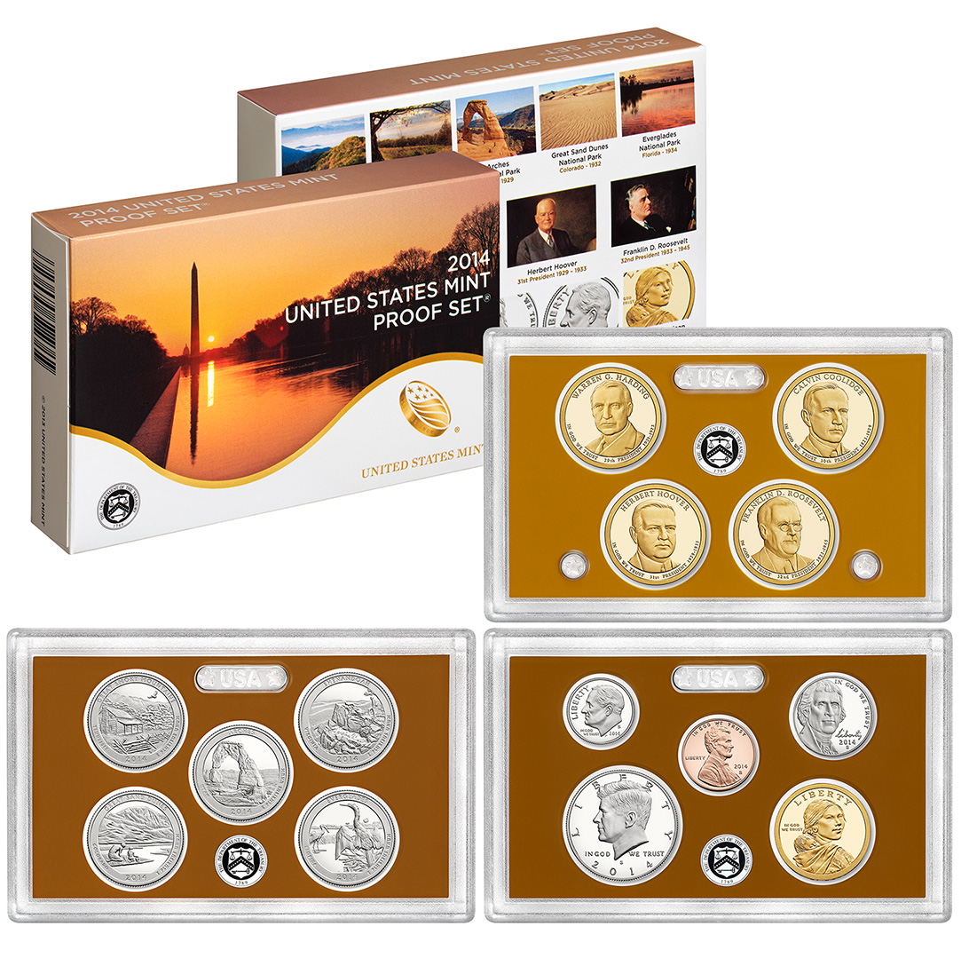 2014 Proof Set Golden Eagle Coins