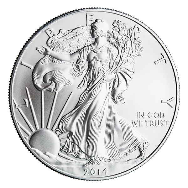 2014 Silver Eagle Golden Eagle Coins