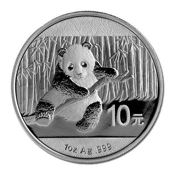2014 Chinese Silver Panda 1 Oz Golden Eagle Coins