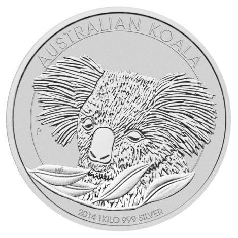 Australian Koala Kilo Silver 2014 Golden Eagle Coins
