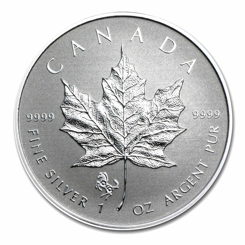 2014 Canada 1 Oz Silver Maple Leaf Reverse Proof Horse
