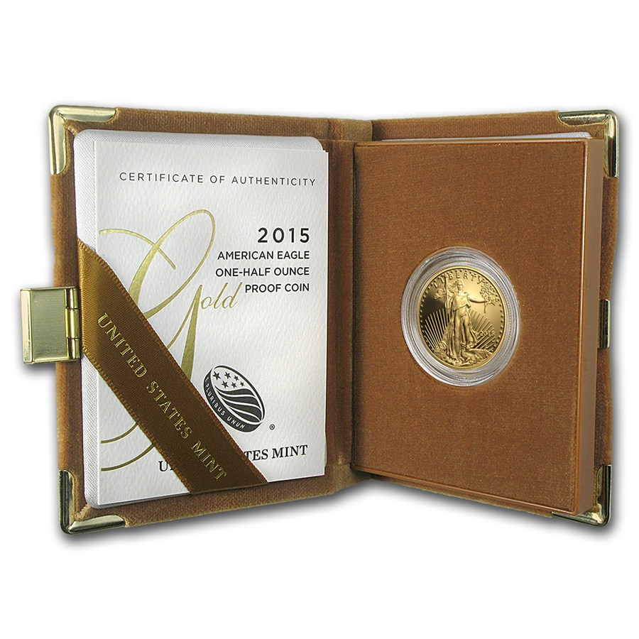 Proof American Gold Eagle Half Ounce 2015 Golden Eagle Coins