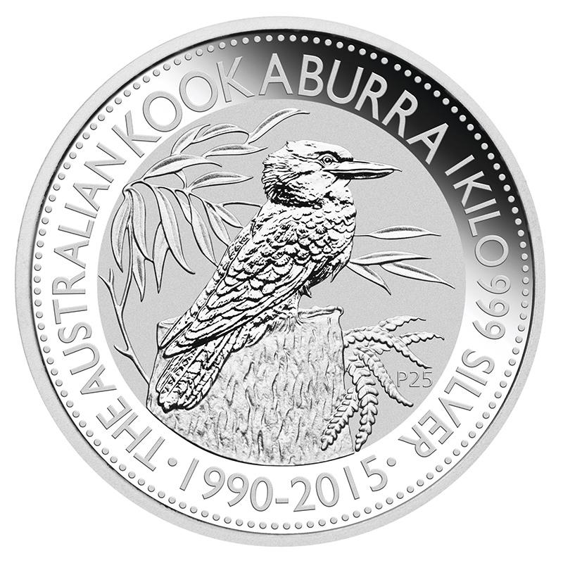 Australian Kookaburra Kilo Silver 2015 Golden Eagle Coins