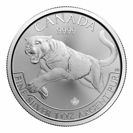 Canadian Silver 1 Oz Cougar 2016 Predator Series