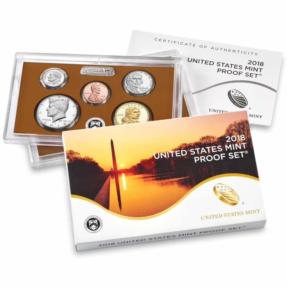 2018 Proof Set Golden Eagle Coins