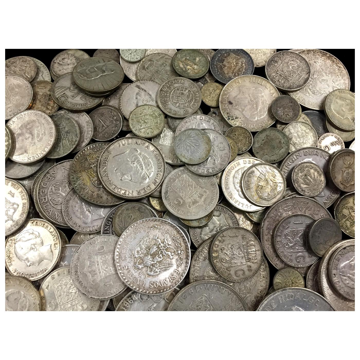 10 ounces 72% pure silver world coins