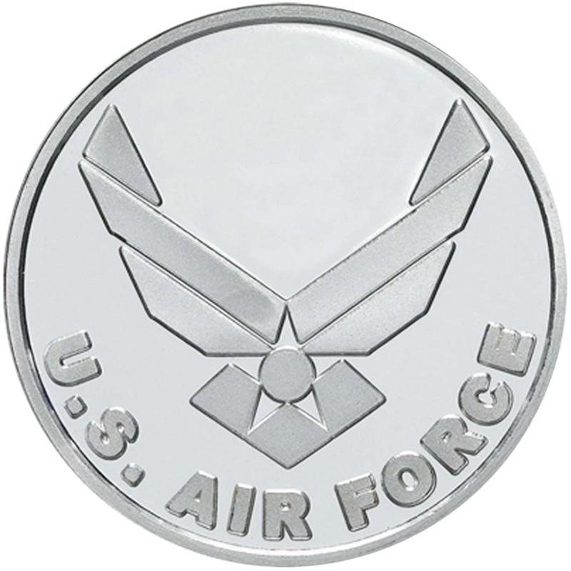 Us Air Force 999 Silver 1 Oz Round Golden Eagle Coins