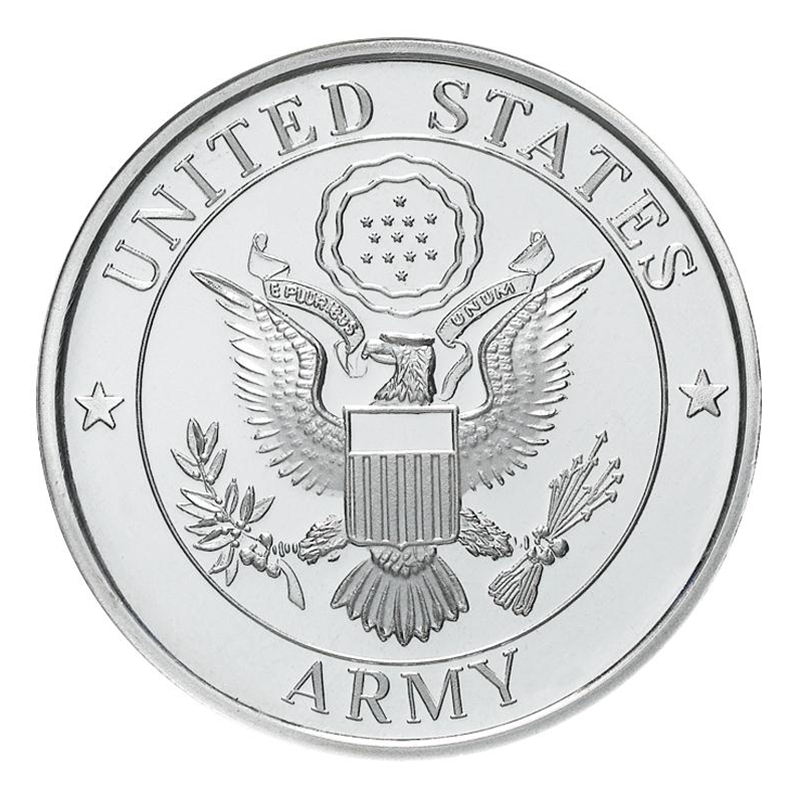 Us Army 999 Silver 1 Oz Round Golden Eagle Coins