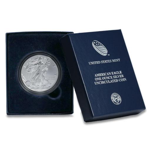 Burnished 2011 W Silver Eagle Original Mint Box Golden