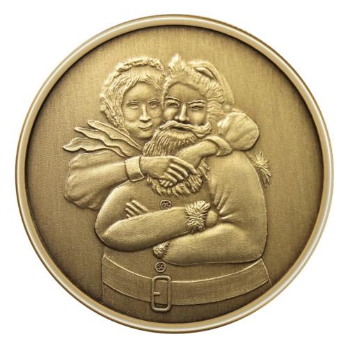 Christmas Bronze 2013 Mr Amp Mrs Santa Claus 1oz X 1