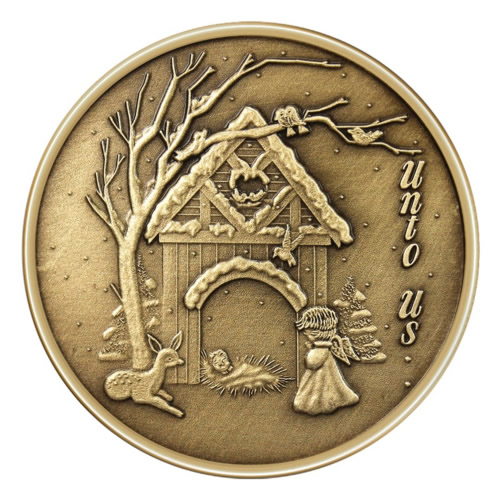 Christmas Bronze 2013 Christmas Nativity 1oz X 10 Golden