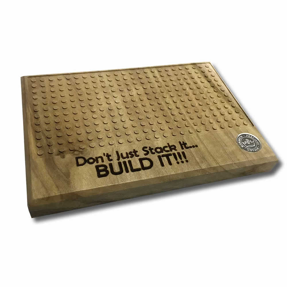 Solid Wood Building Base for Monarch Silver Block Bars