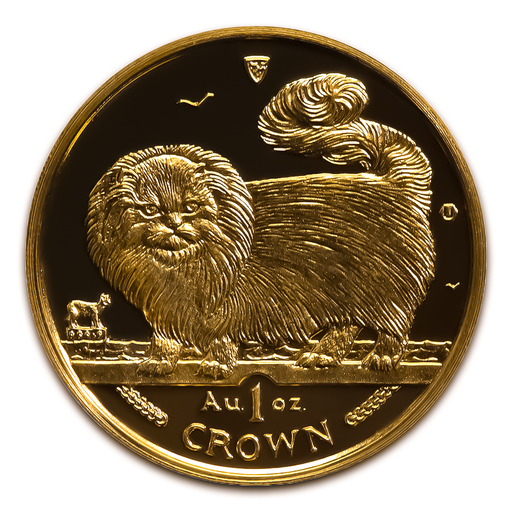 Isle Of Man Gold Cat 1 Ounce 1997 Golden Eagle Coins