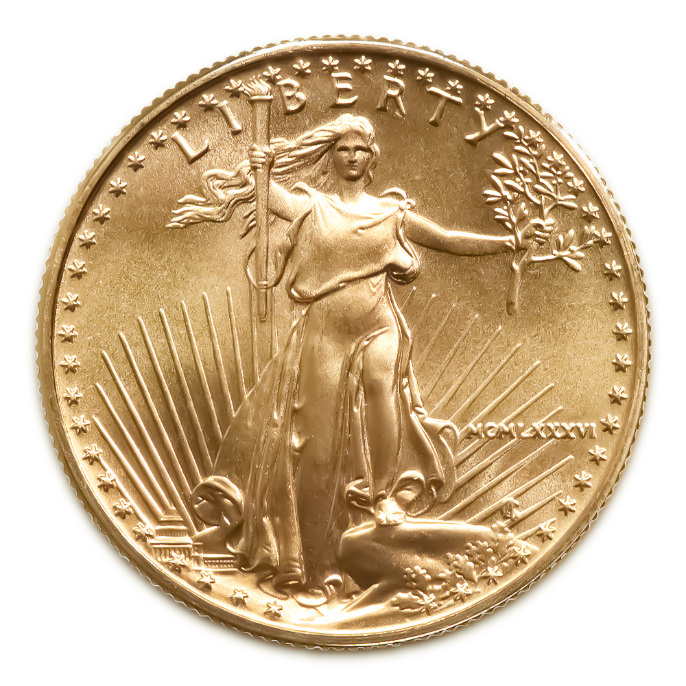 1986 American Gold Eagle 1 10 Oz Uncirculated Golden