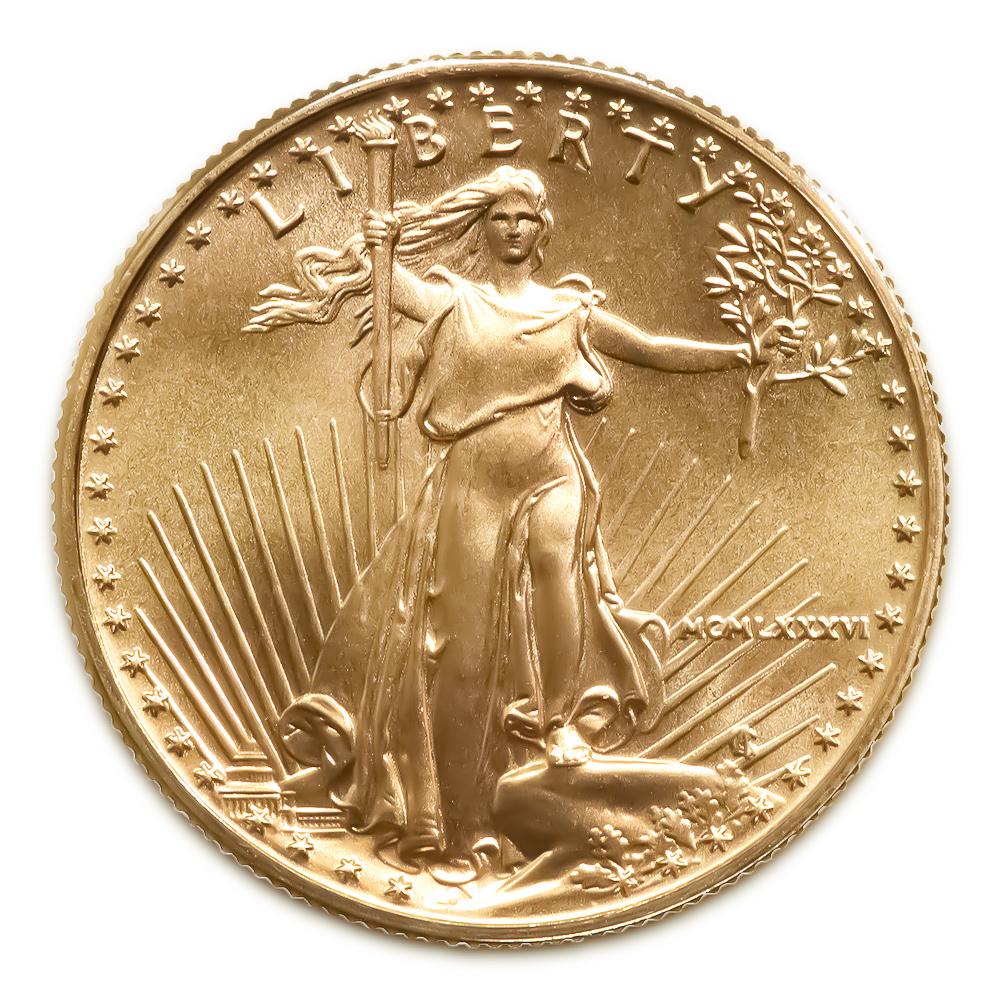 1986 American Gold Eagle 1 2 Oz Uncirculated Golden