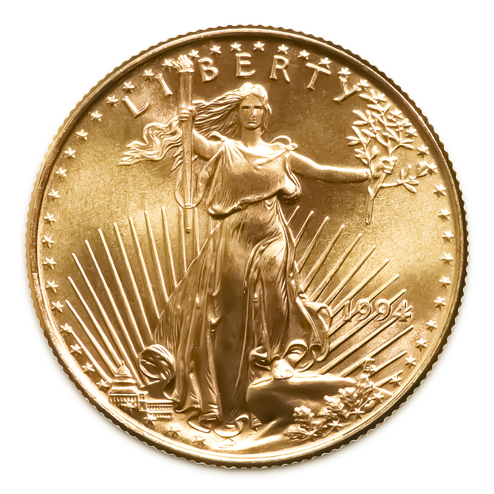 1994 American Gold Eagle 1 4 Oz Uncirculated Golden