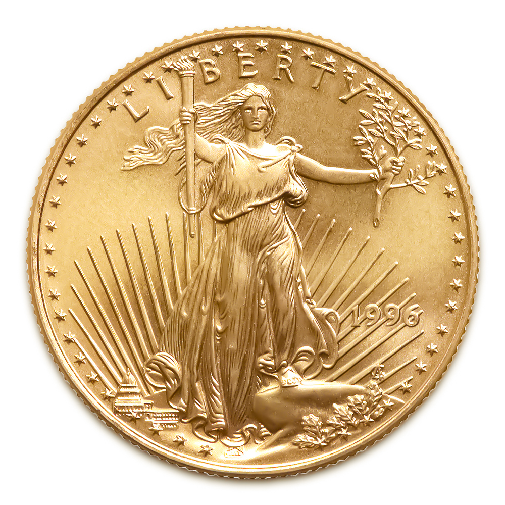 1996 American Gold Eagle 1 10 Oz Uncirculated Golden