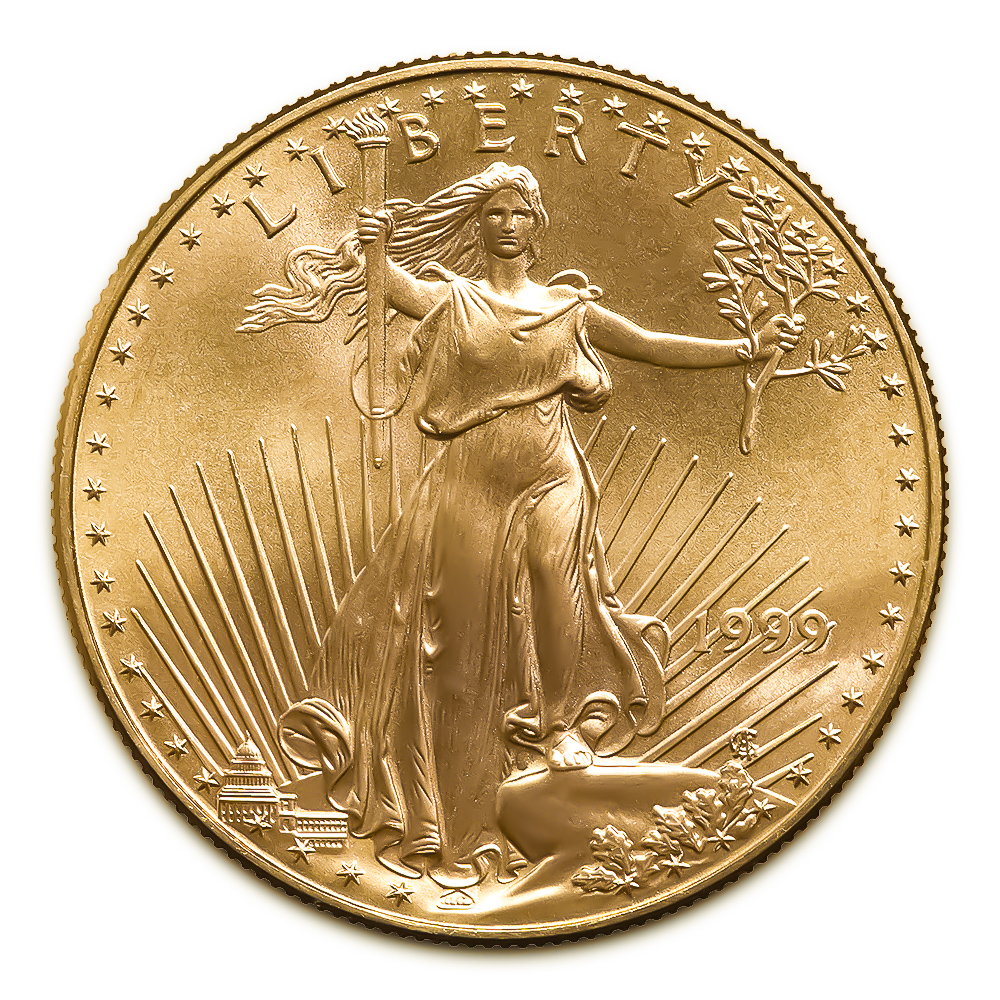 1999 American Gold Eagle 1 4 Oz Uncirculated Golden Eagle Coins