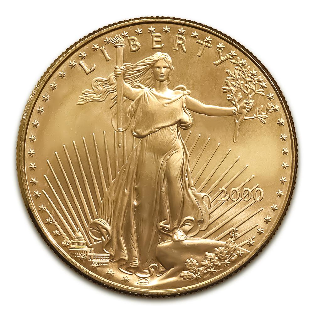 2000 American Gold Eagle 1 10 Oz Uncirculated Golden