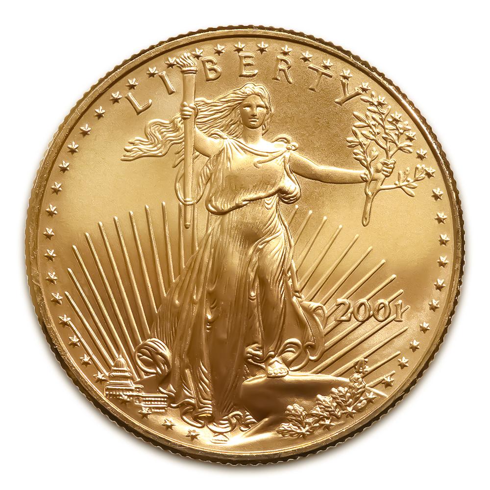 2001 American Gold Eagle 1 10 Oz Uncirculated Golden Eagle Coins