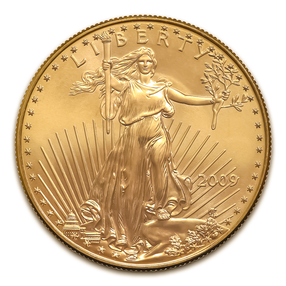 2009 American Gold Eagle 1 Oz Uncirculated Golden Eagle Coins