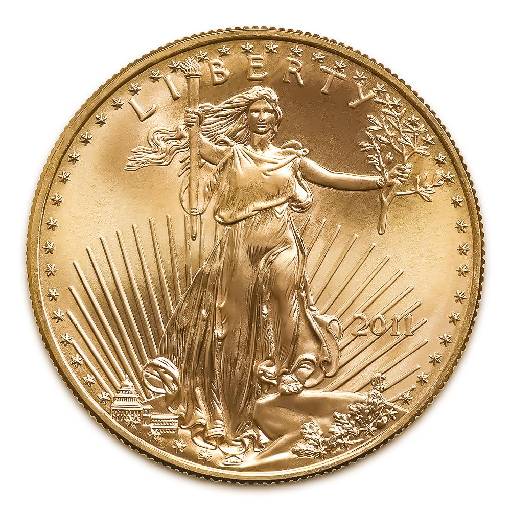 2011 American Gold Eagle 1 2 Oz Uncirculated Golden
