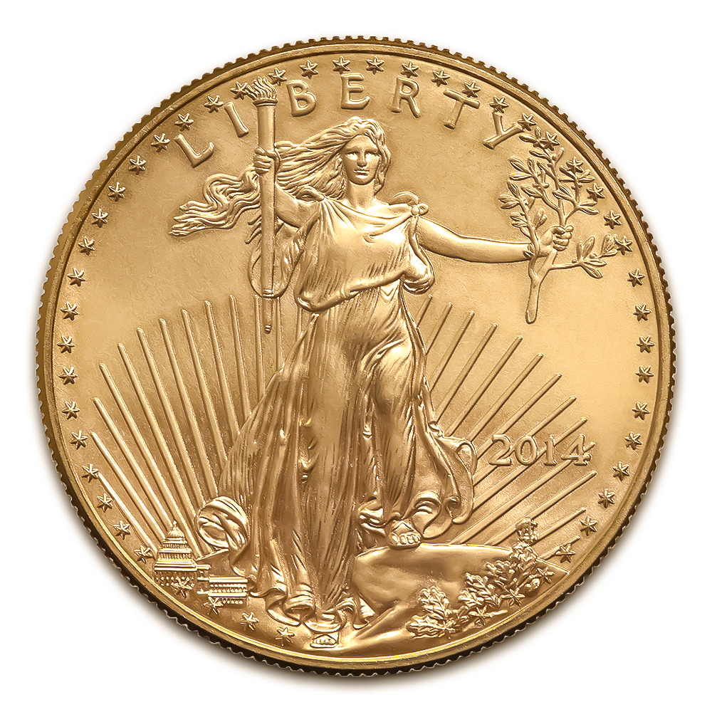 2014 American Gold Eagle 1 10 Oz Uncirculated Golden Eagle Coins