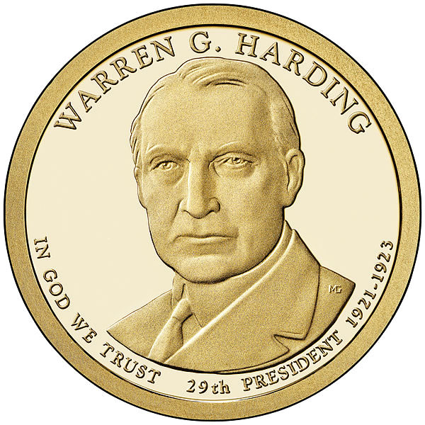 Presidential Dollars Warren G Harding 2014 P 25 Pcs Roll