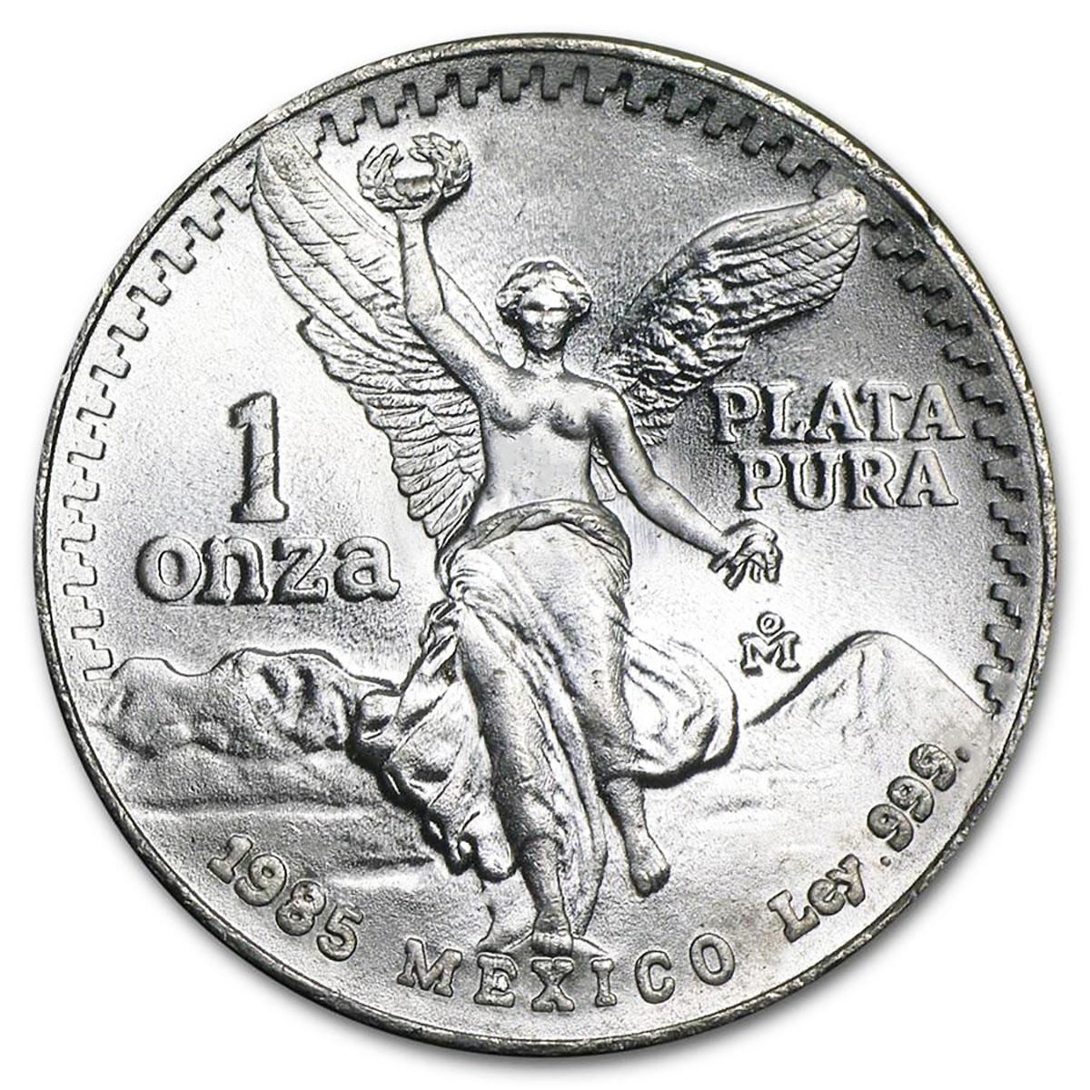 1985 1 oz Mexican Silver Libertad BU 1 oz .999 Fine Silver