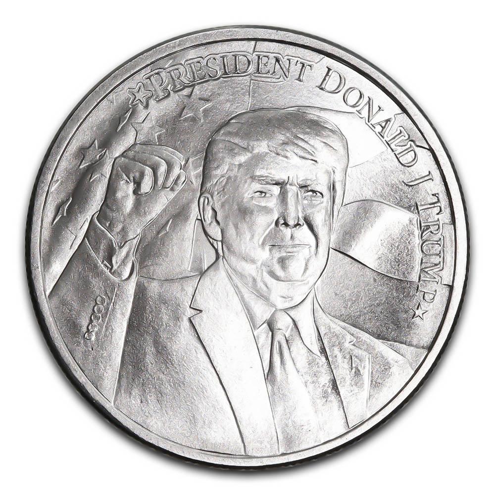 2020 Donald Trump Silver Round 1 Oz Golden Eagle Coins