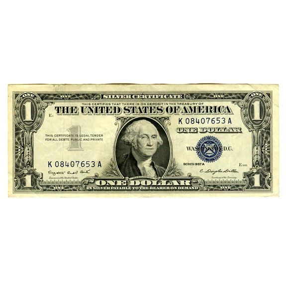 Silver Certificate $1 Note 1935-57 XF-AU | Golden Eagle Coins