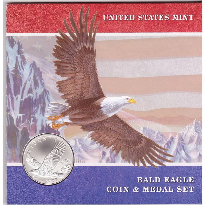 2008 Bald Eagle Coin And Medal Set Golden Eagle Coins