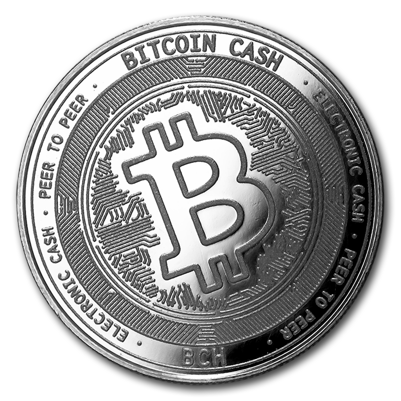 1 Oz Silver Bullion Cryptocurrency Bitcoin Cash Round 999