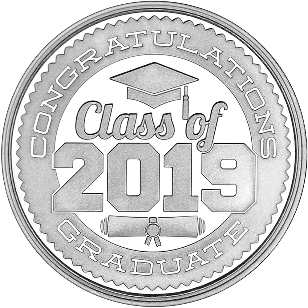 Congratulations Class Of 2019 999 Silver 1 Oz Round