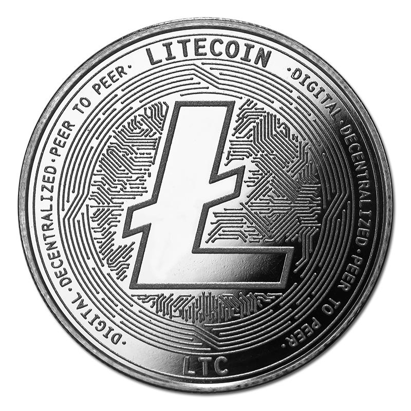 Litecoin Silver Coin Ltc Bullion Round Golden Eagle Coins