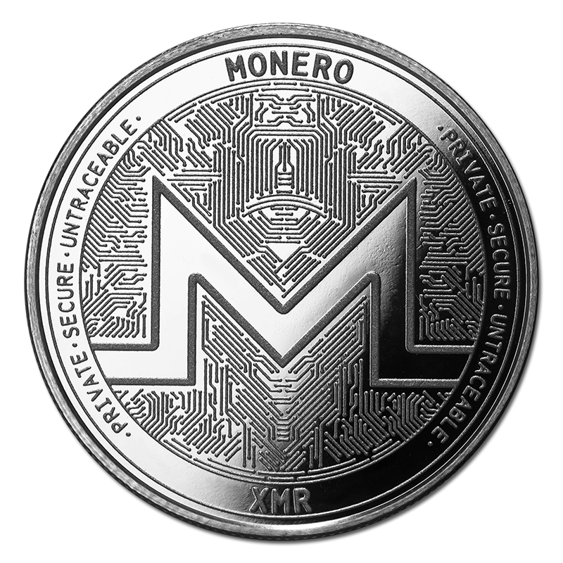 Monero Silver Coin Xmr Bullion Round Golden Eagle Coins