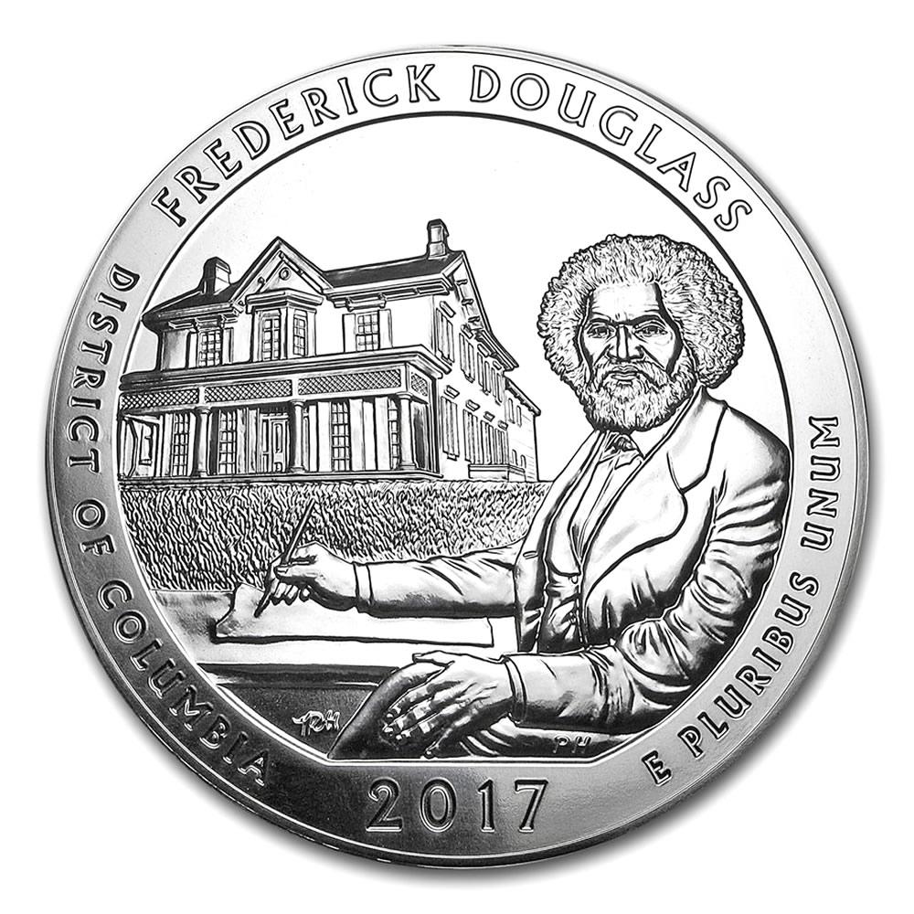 2017 Silver 5oz Silver Frederick Douglass Atb Golden