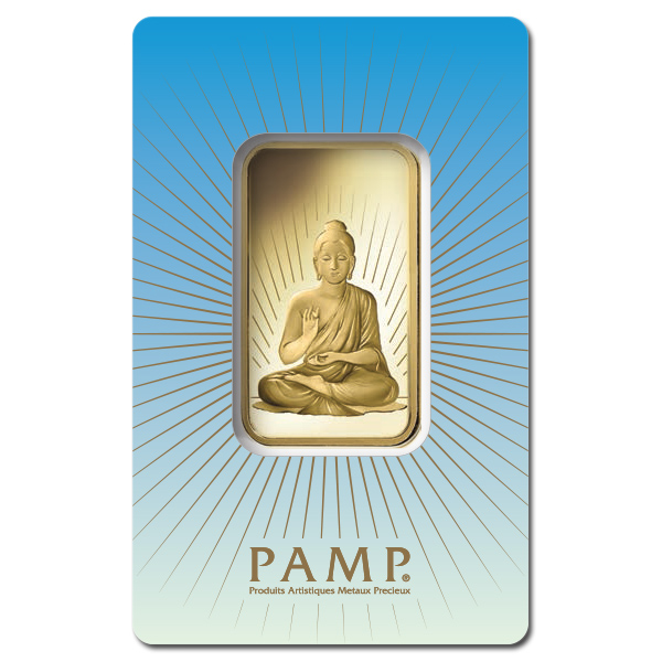 Pamp Suisse 1 Ounce Gold Bar Buddha Golden Eagle Coins