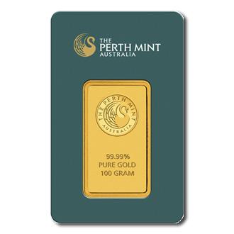 Perth Mint 100 Gram Gold Bar Golden Eagle Coins