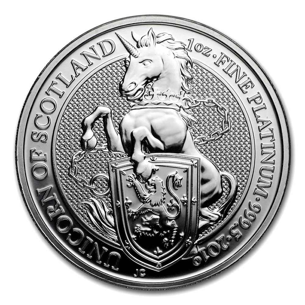 2019 1 Oz British Platinum Queen S Beast Unicorn Coin Bu