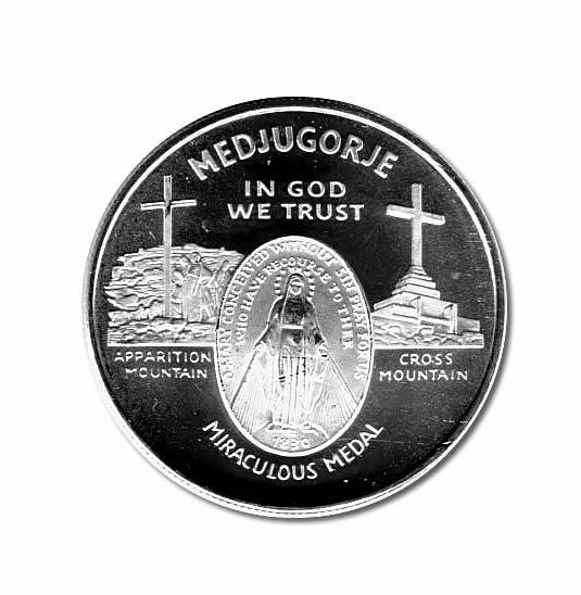 Silver Bullion 1 Oz Round Medjugorjes Apparitions Of